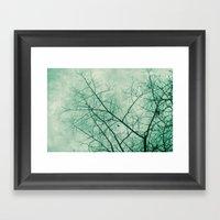 Tree In Green Framed Art Print