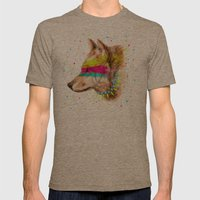 Cherokee Wolf II Mens Fitted Tee Tri-Coffee SMALL