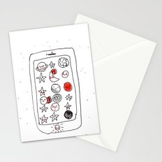 My space phone Stationery Cards