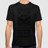 Stay Weird - Oldschool Mens Fitted Tee Tri-Black SMALL