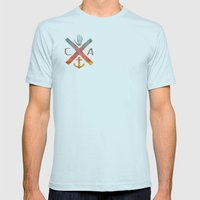 California Mens Fitted Tee Light Blue SMALL