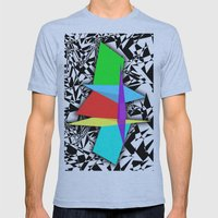 Color Sculpture Mens Fitted Tee Athletic Blue SMALL