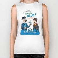 Mr. White Can Make Blue! Biker Tank