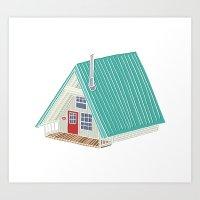 Little A Frame Cabin Art Print