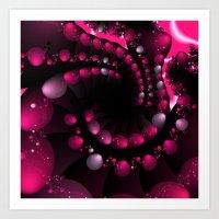 Berry Splash Art Print