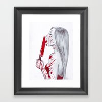 A Taste Of Red Framed Art Print
