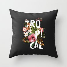 Tropical II Throw Pillow
