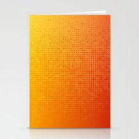 Yellorange Dots Stationery Cards