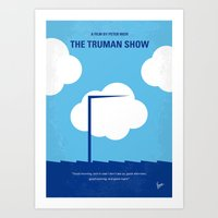 No234 My Truman show minimal movie poster Art Print