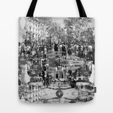 Summer space, smelting selves, simmer shimmers. 25, grayscale version Tote Bag