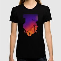 At Dusk Womens Fitted Tee Black SMALL