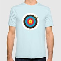 Apple Hit Mens Fitted Tee Light Blue SMALL