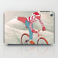 rushing home for christmas iPad Case