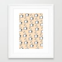 Cups Of Coffee Framed Art Print