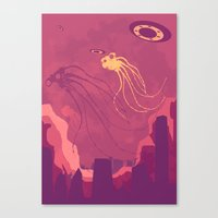 They are here! Canvas Print