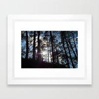 Sunlight In The Dark For… Framed Art Print