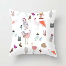 Animal collection Throw Pillow