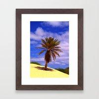 Tropical Island Palm Tree Framed Art Print