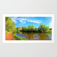 Red Rock Crossing Panora… Art Print