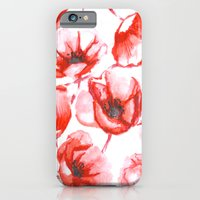 iPhone & iPod Case featuring Flora Poppy by Caitlin Workman