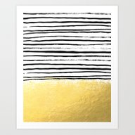 Blaire - Brushed Gold St… Art Print