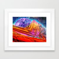 Mystic Mountain Framed Art Print