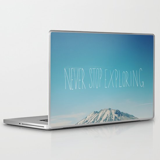 Never Stop Exploring: Mount Rainier Laptop & iPad Skin