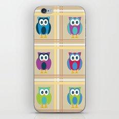 Plaid Owls iPhone & iPod Skin
