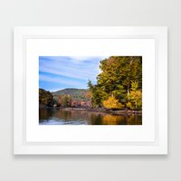 Fall River Vistas - New England Framed Art Print