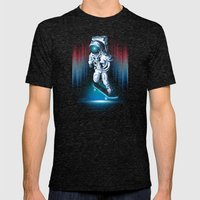 Space Skater Mens Fitted Tee Tri-Black SMALL