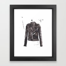 Motorcycle Jacket Framed Art Print
