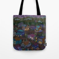 A Town On The Edge Of Ad… Tote Bag