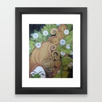 Mind of her own. Framed Art Print