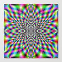 Neon Psychedelic Canvas Print