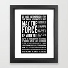 Star Wars Quotes Framed Art Print