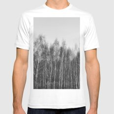 trees SMALL Mens Fitted Tee White