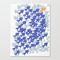 100 fishes Canvas Print