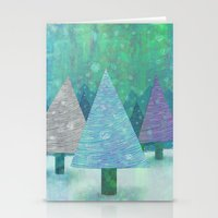 Snow and Trees Stationery Cards