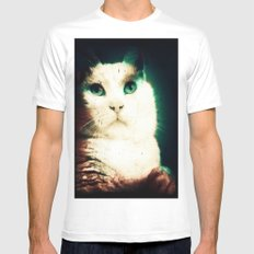 Missy The Cat SMALL Mens Fitted Tee White