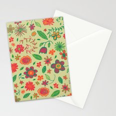 Spring Florals Yellow Stationery Cards