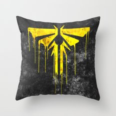The Last Of Us Fireflies (Yellow) Throw Pillow