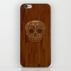 Wooden Sugar Skull iPhone & iPod Skin