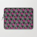 BW & Pink Abstract Pattern Laptop Sleeve