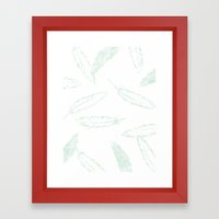 Painted Feathers - In Mi… Framed Art Print