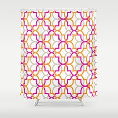 Moroccan Trellis Overlaps Shower Curtain
