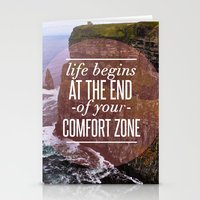 The End Of Your Comfort Zone Stationery Cards