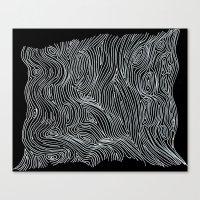Inverted Brain Map Canvas Print