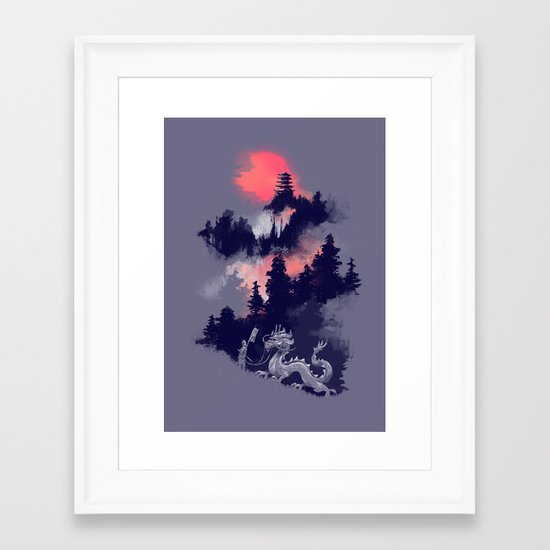 Samurai's life Framed Art Print