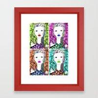 Rainbow Riot Girlz. Quadrupletz.  Framed Art Print