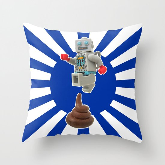Poo jumping Throw Pillow